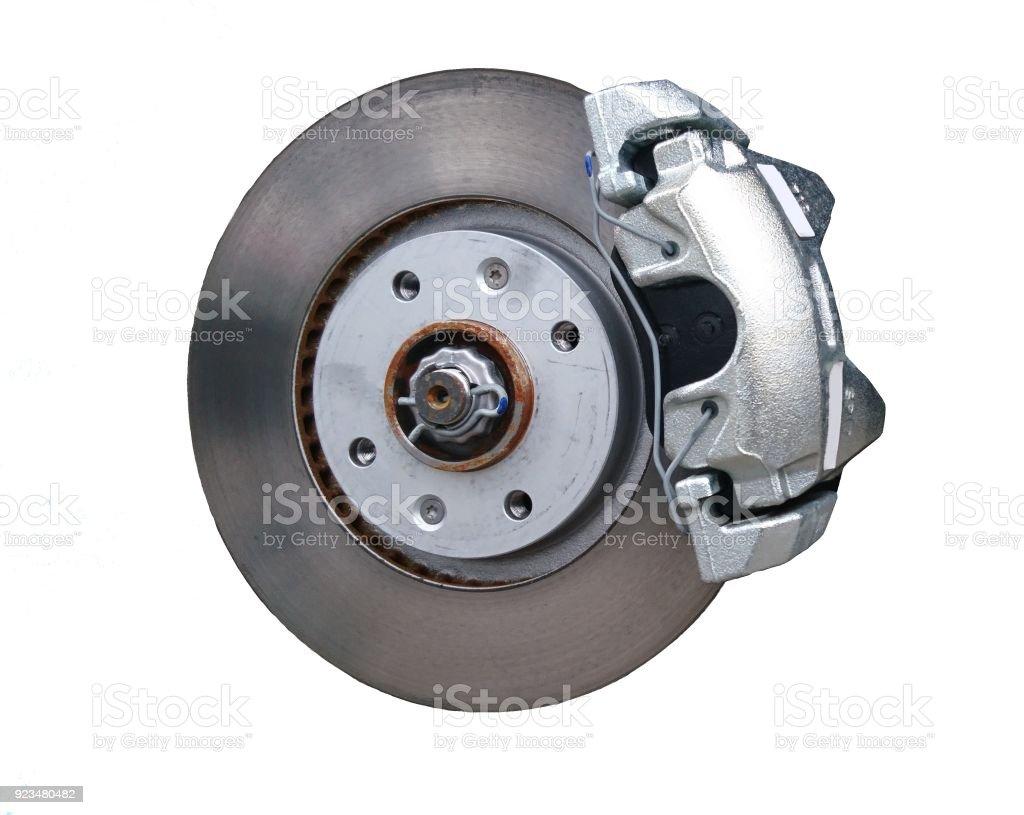 Car disc brake isolated on a white stock photo