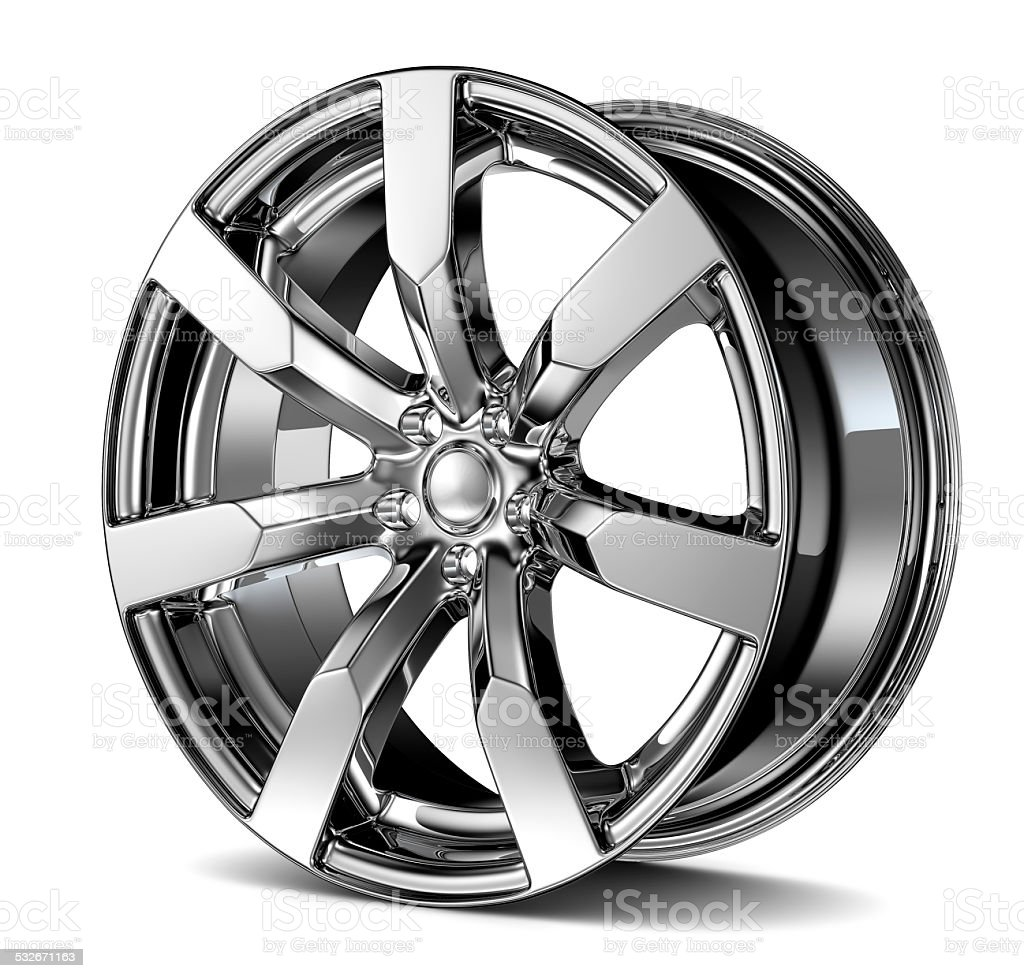 Car disc isolated on white stock photo