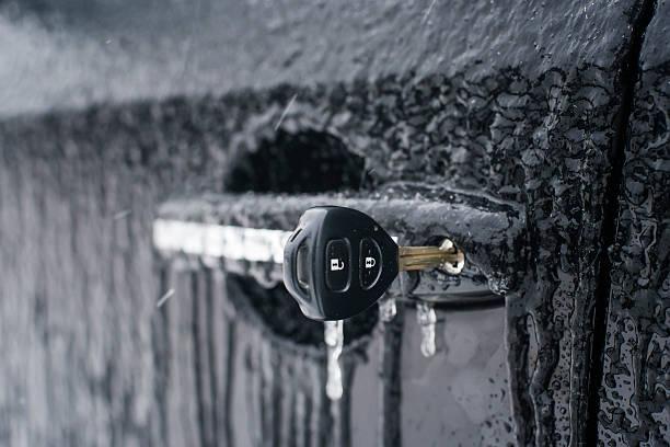 car door opener key stock photo