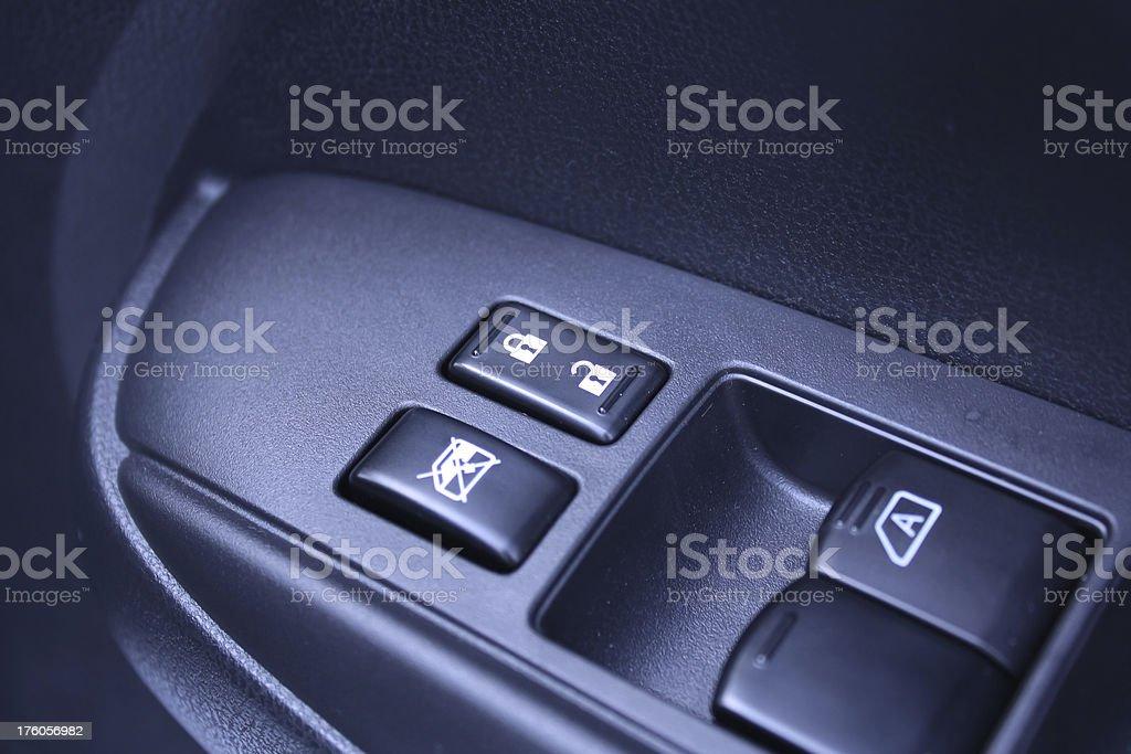 car door panel control royalty-free stock photo