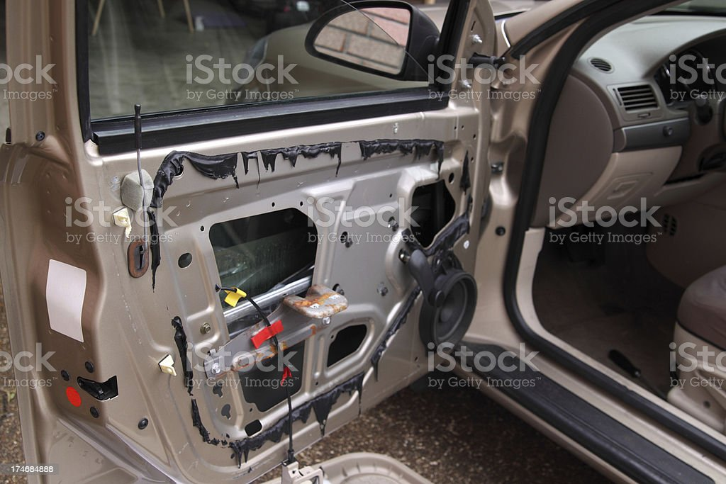 Car Door Repair royalty-free stock photo