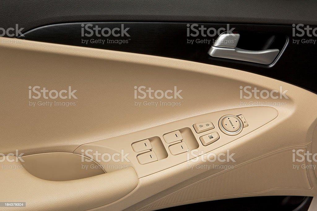 Car Door Window Control Panel stock photo