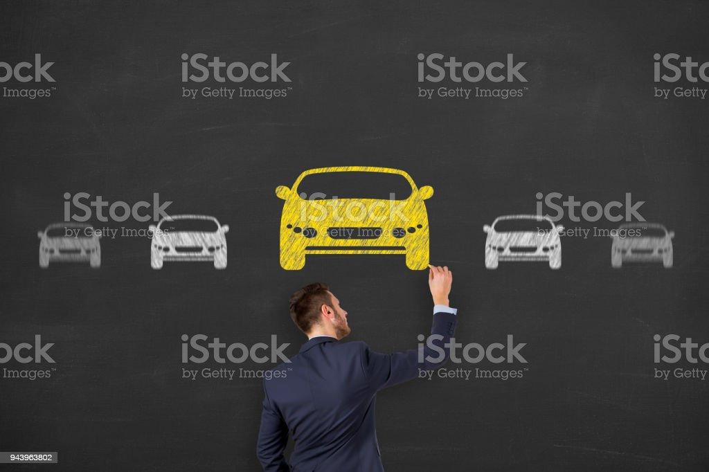 Car Drawing Choose stock photo