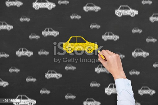 683425144 istock photo Car Drawing Chosen on Blackboard 491465058