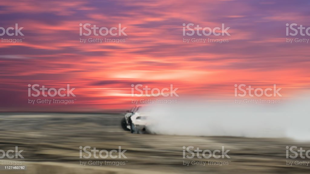 Car drifting, Blurred of image diffusion race drift car with lots of...