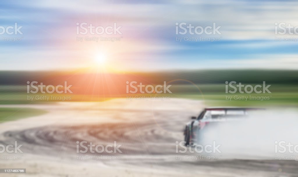 Car Drifting Blurred Of Image Diffusion Race Drift Car With