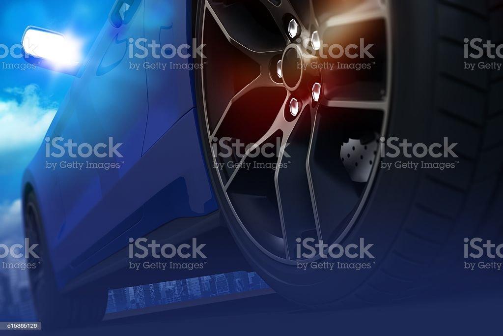 Car Drifting Concept stock photo