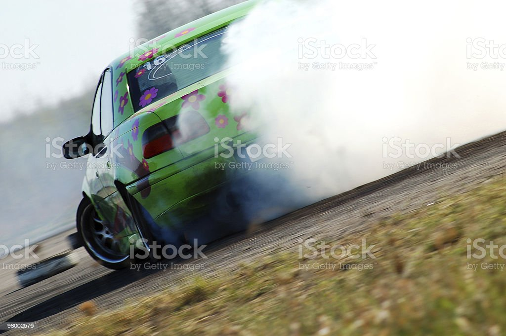 Car drifting on a race track royalty free stockfoto