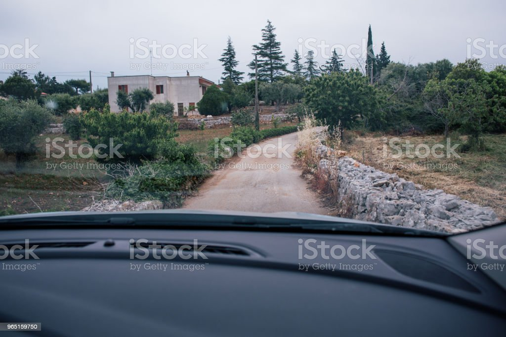 Car drive in Italy summertime roads zbiór zdjęć royalty-free