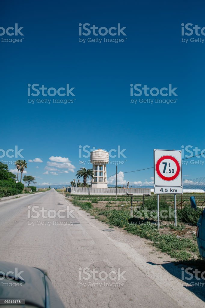 Car drive in Italy summertime roads royalty-free stock photo
