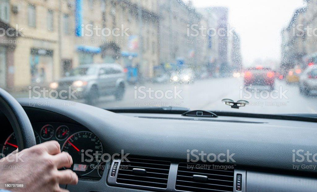 Car driver royalty-free stock photo