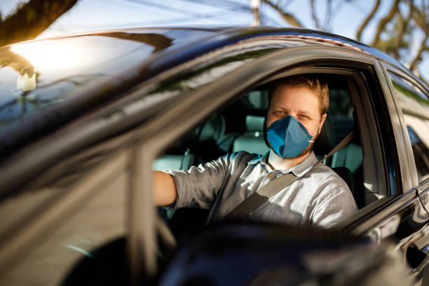 Car driver worker stock photo