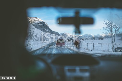 istock POV car driving in snow: the mountains of Norway 891965676