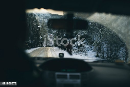 istock POV car driving in snow: the mountains of Norway 891968276