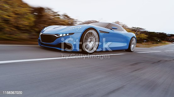 918555756 istock photo car driving on a road 1158367020