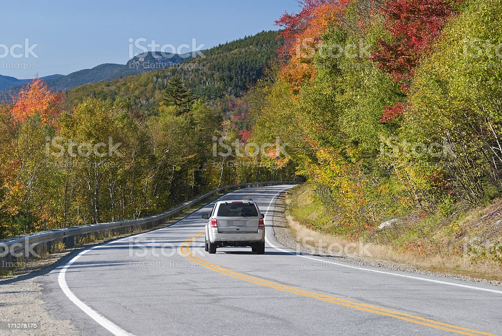 Car driving scenic route stock photo
