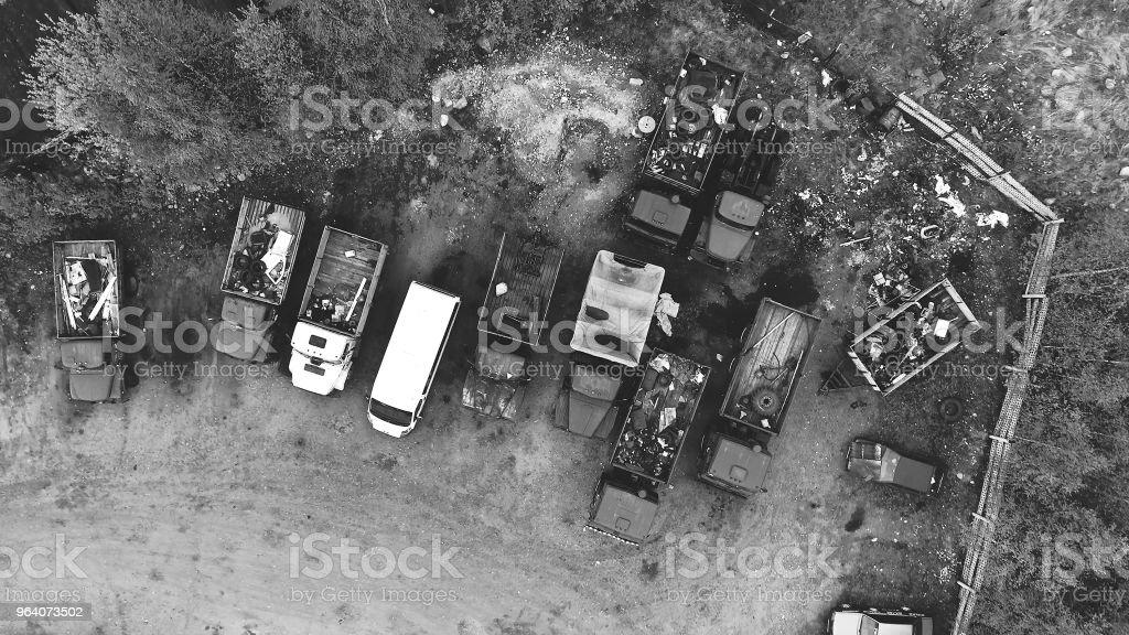Car Dump - Royalty-free Above Stock Photo