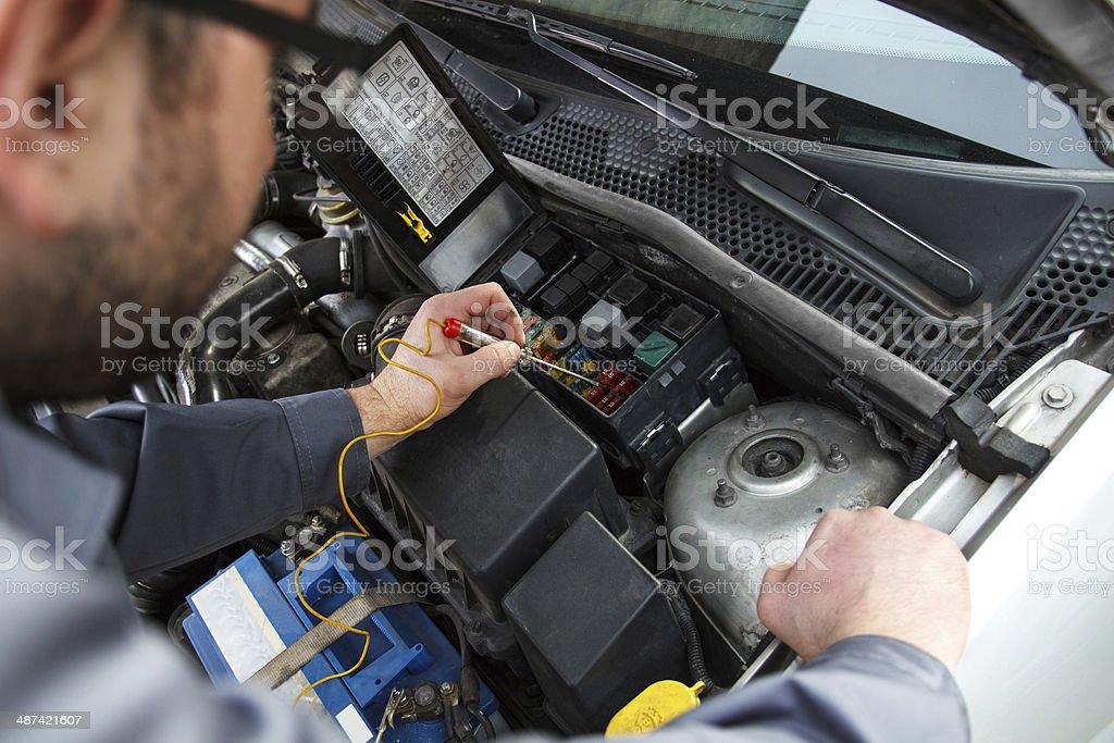 Car electric repair stock photo