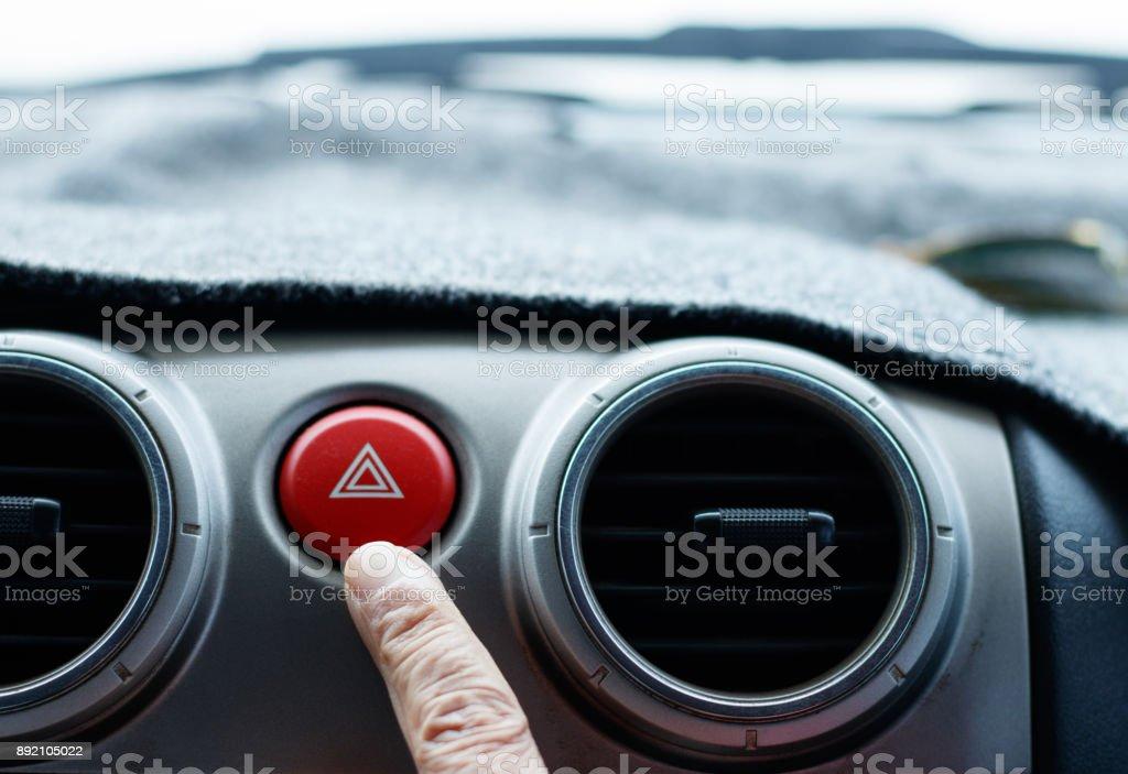 Carro de emergência luz botton. - foto de acervo