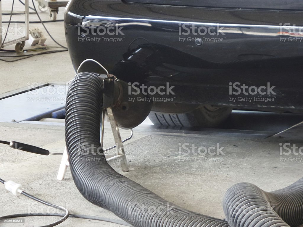 Car Emissions Measurement stock photo