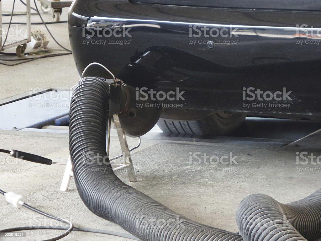 Auto-Emissionen Messung – Foto