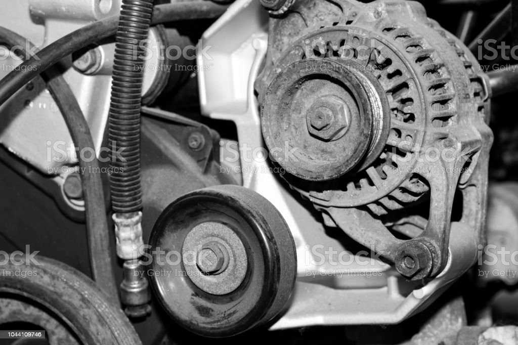 Car Engine. Altenator stock photo