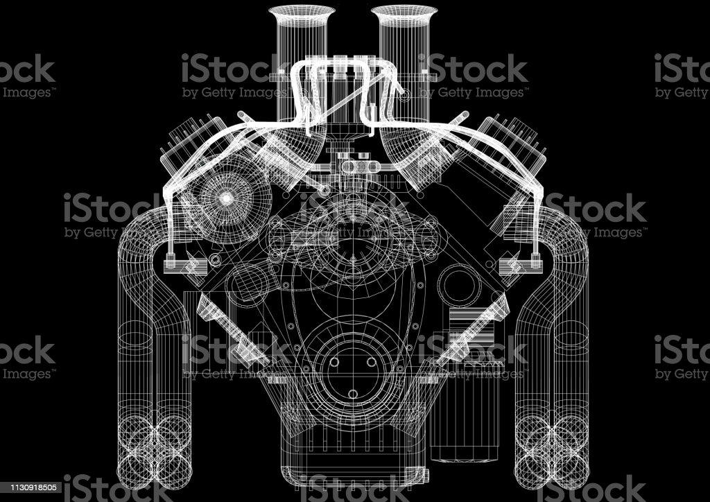 Motor Architekt Blaulicht – Foto