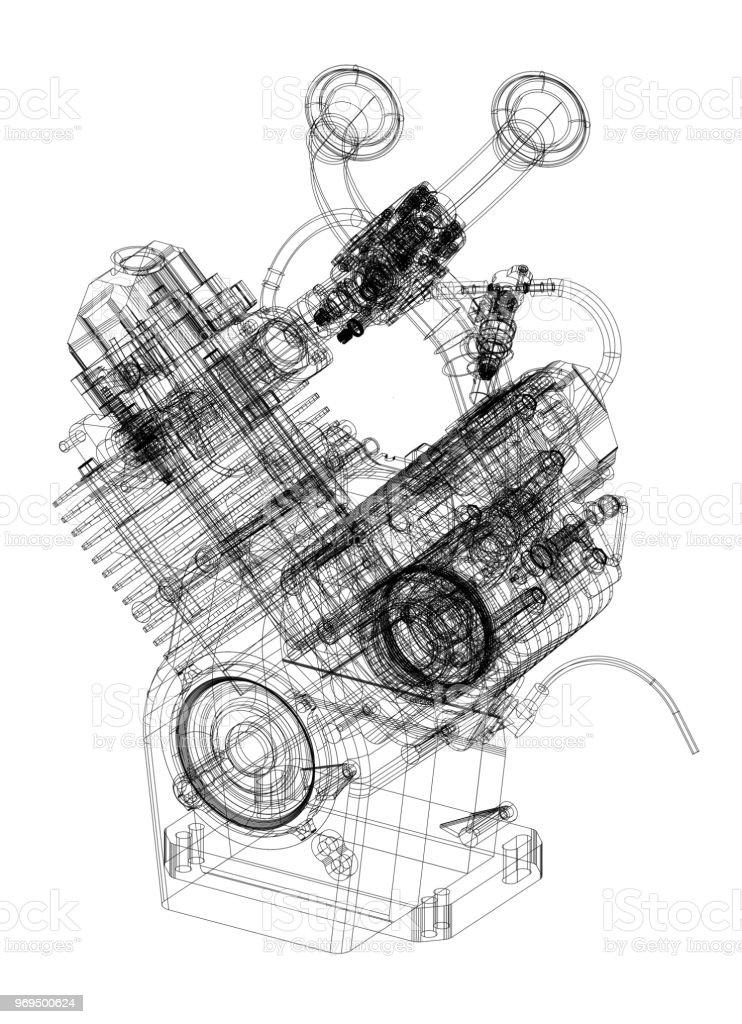 Car engine blueprint isolated stock photo more pictures of car engine blueprint isolated royalty free stock photo malvernweather Choice Image