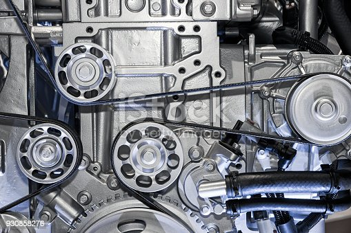 istock Car engine close up 930858276