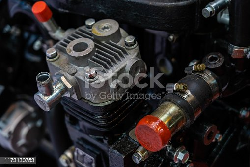 Car engine close-up