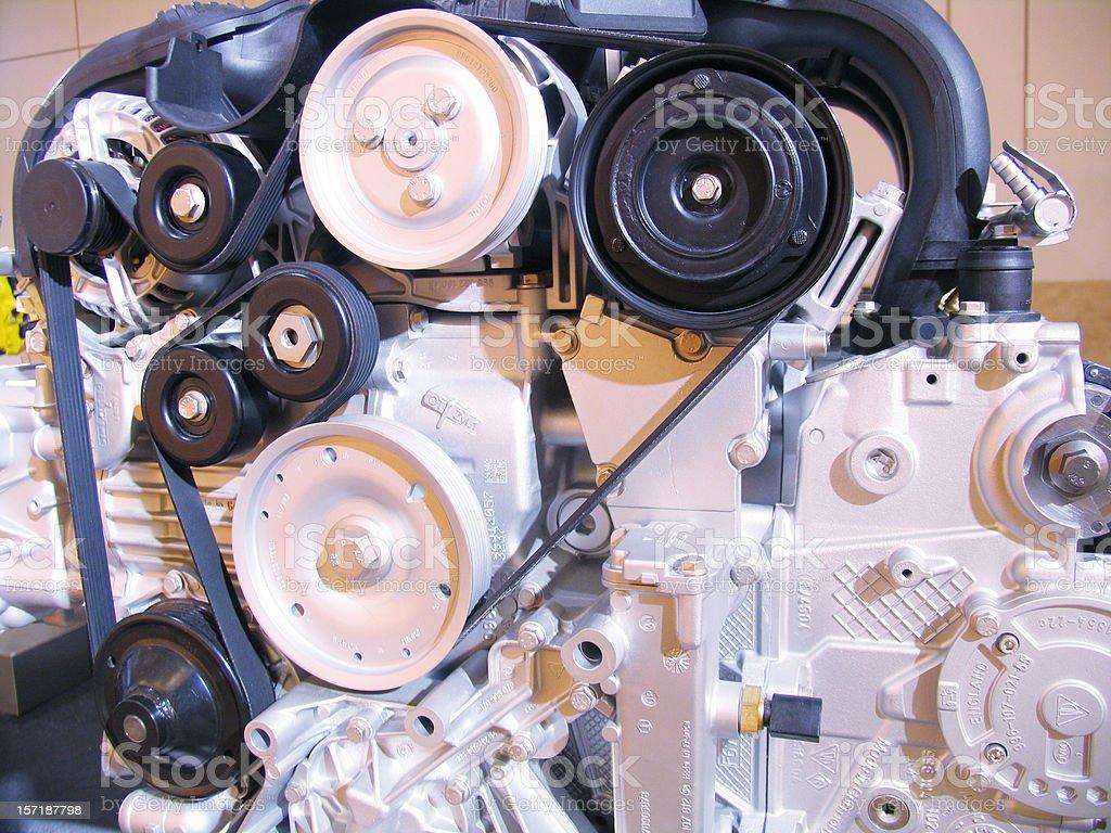 Car engine closeup royalty-free stock photo