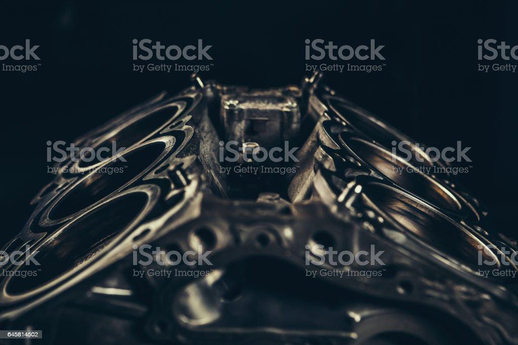 Primer plano de motor de coche V8 - foto de stock