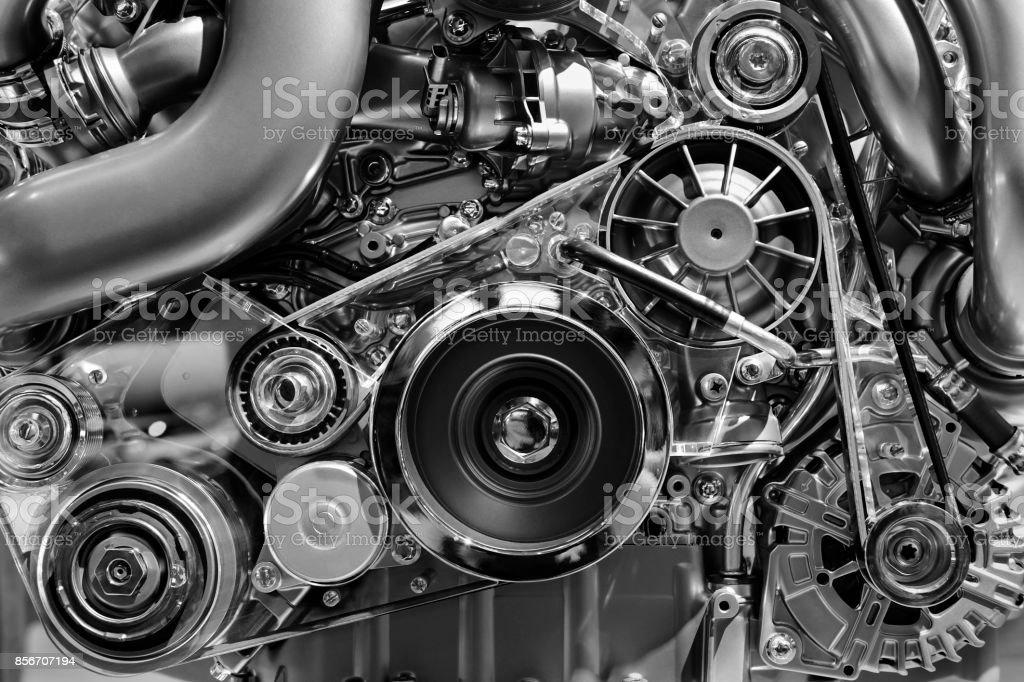 Car motor detalle - foto de stock