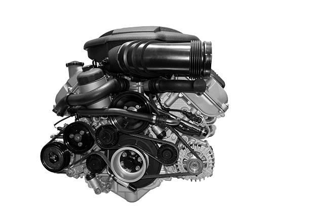 motor de carro isolado a branco - exhaust white background imagens e fotografias de stock