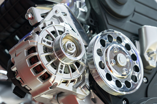 Car Engine Motor Close-up