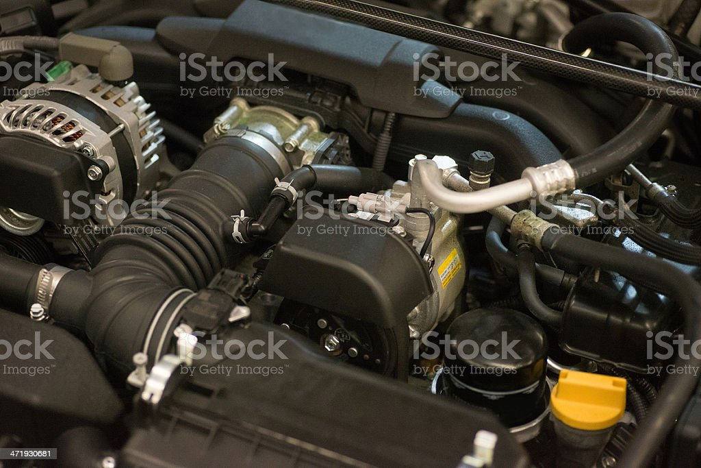 car engine - motorraum stock photo