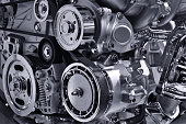 istock Car engine part 980132036