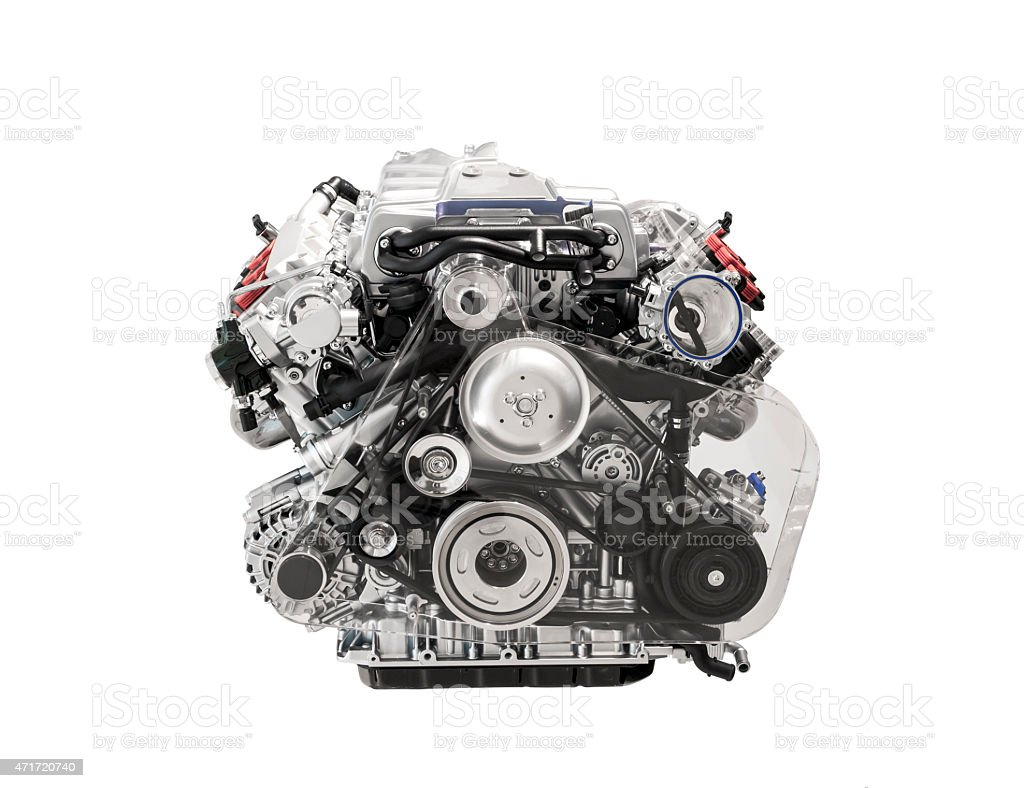 Motor de coche - foto de stock