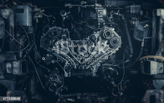 V8 Car Engine. Stock photo