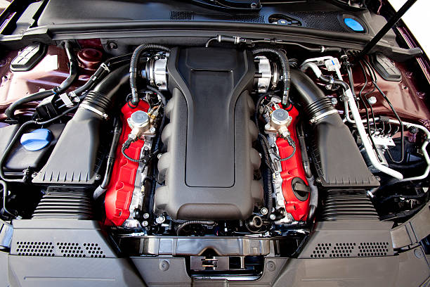 Car engine. stock photo