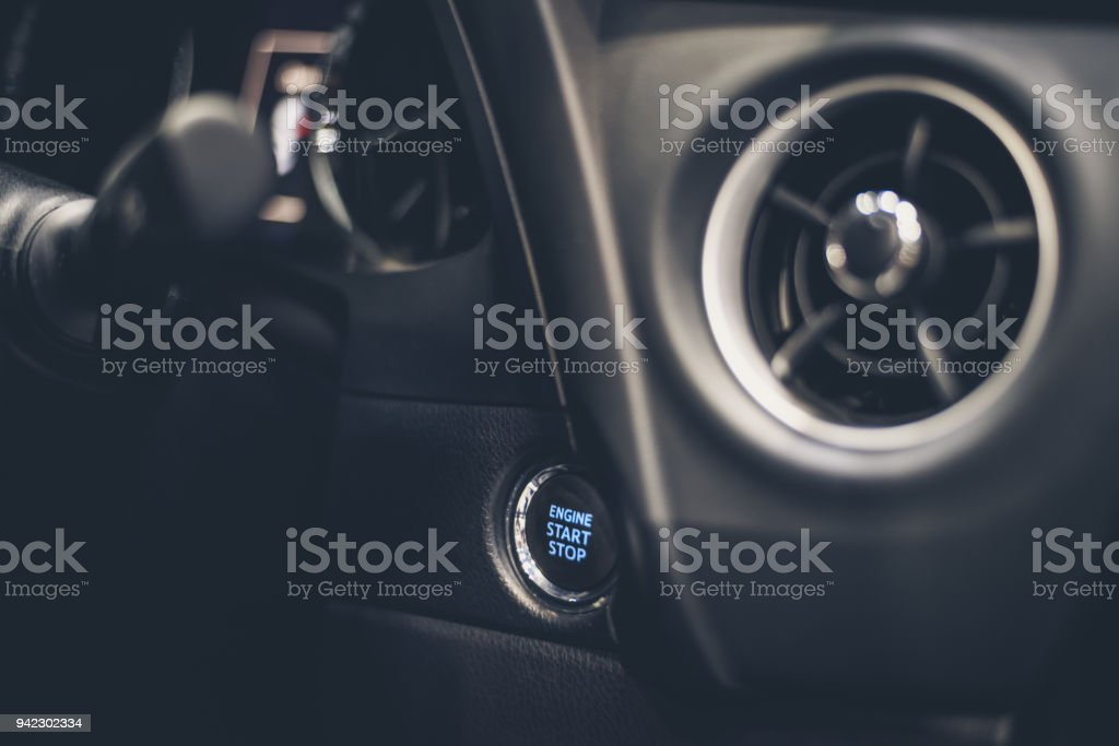 Car Engine Push Start Stop Button Ignition Remote Starter Car Symbol