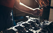 istock Car engine repair 1135065665