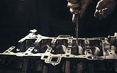 istock Car engine repair 1142876601