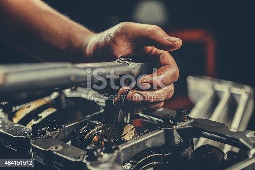 V8 Car Engine repair. Stock photo