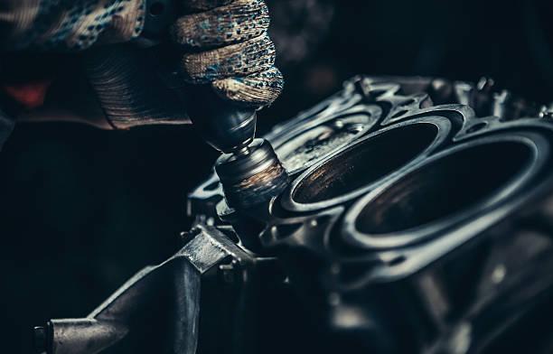 V8 moteur de voiture réparation - Photo