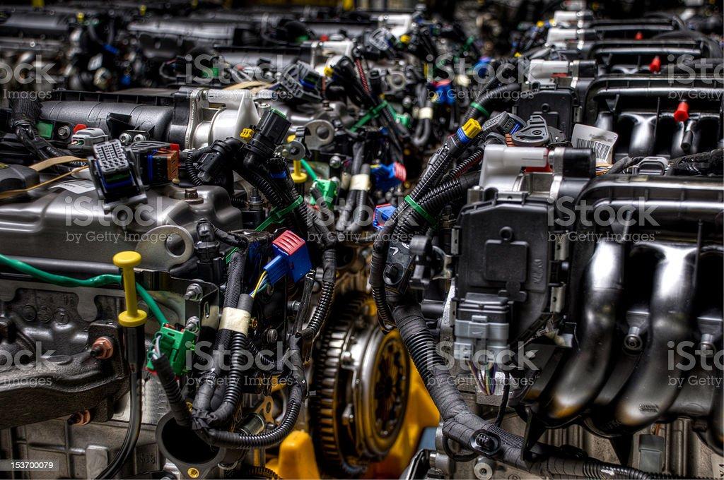 Car engines stock photo