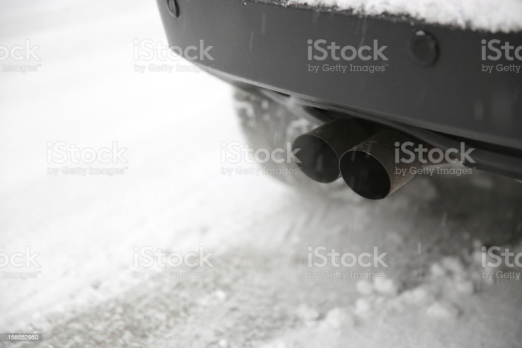 Car Exhaust Pipe royalty-free stock photo