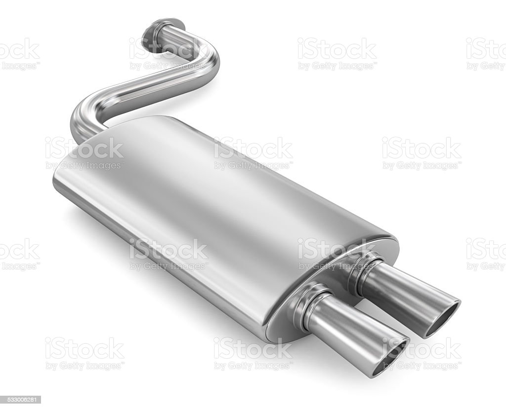 Car Exhaust Pipe. stock photo