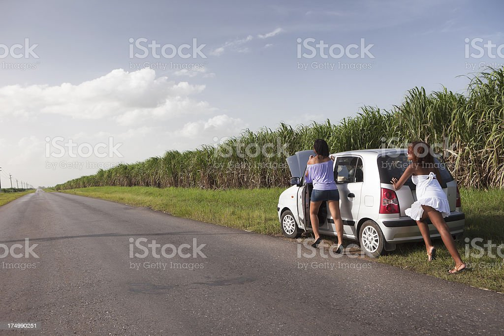 Car Failure in Cuba royalty-free stock photo