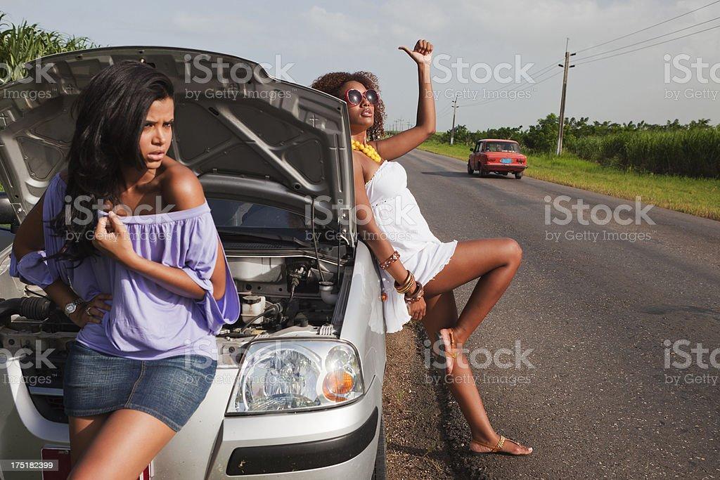 Car Failure in Cuba royalty-free stock photo
